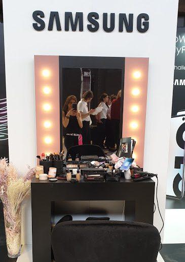 maquillage événementiel entreprise samsung lyon